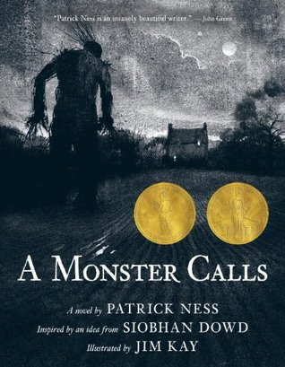 Review:  A Monster Calls by Patrick Ness, Siobhan Dowd (Conception), Jim Kay (Illustrator)
